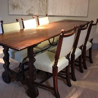 18th Century Spanish Walnut Dining Table
