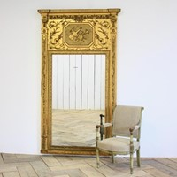 Large antique Swedish Mirror