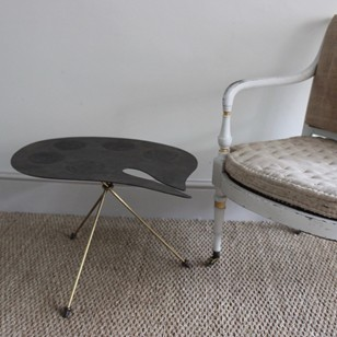 Unusual 1950s French Metal Occasional Table