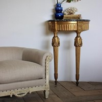 18th Cent French Louis XVI Demi-Lune Console Table