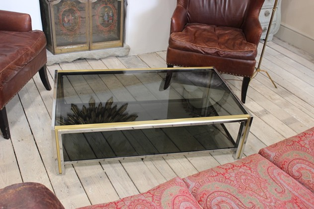 French Chrome and Brass Coffee Table, 1970's-brownrigg-a-stylish-french-chrome-and-brass-coffee-table-18-3_main_636209471888876872.jpeg