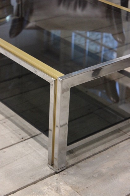 French Chrome and Brass Coffee Table, 1970's-brownrigg-a-stylish-french-chrome-and-brass-coffee-table-18-E2_main_636209471959236480.jpeg