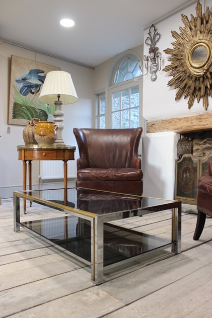 French Chrome and Brass Coffee Table, 1970's-brownrigg-a-stylish-french-chrome-and-brass-coffee-table-18-L_main_636209472683737632.jpeg