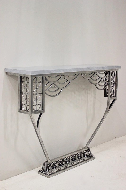 Cubist style Polished Steel Console table-brownrigg-a-very-stylish-cubist-influenced-polished-steel-console-table-204-1-main-637068578426513781.jpeg