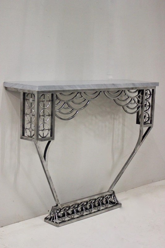 Cubist style Polished Steel Console table-brownrigg-a-very-stylish-cubist-influenced-polished-steel-console-table-204-4-main-637068578430420329.jpeg