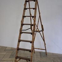 20th century set of bamboo brass mounted steps