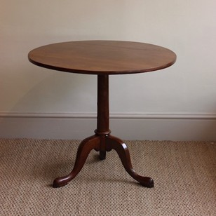 An 18th Century George III Mahogany Tripod Table