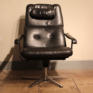 American Leather Executive Office Chair
