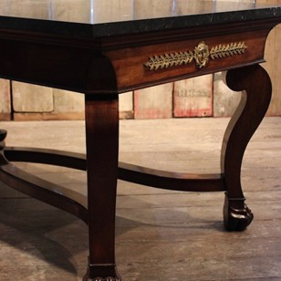 An Empire Mahogany Library or Centre Table, circa