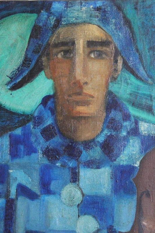 """Blue Harlequin"" Original Oil on Canvas -brownrigg-blue-harlequin-original-oil-on-canvas-by-ngel-garca-lpez-12-2-main-636596483869435377.jpeg"