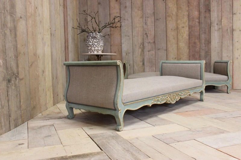 Wonderful Pair of Circa 1900 French Painted Daybed-brownrigg-br-10-0-1-main-636591413580005217.jpeg