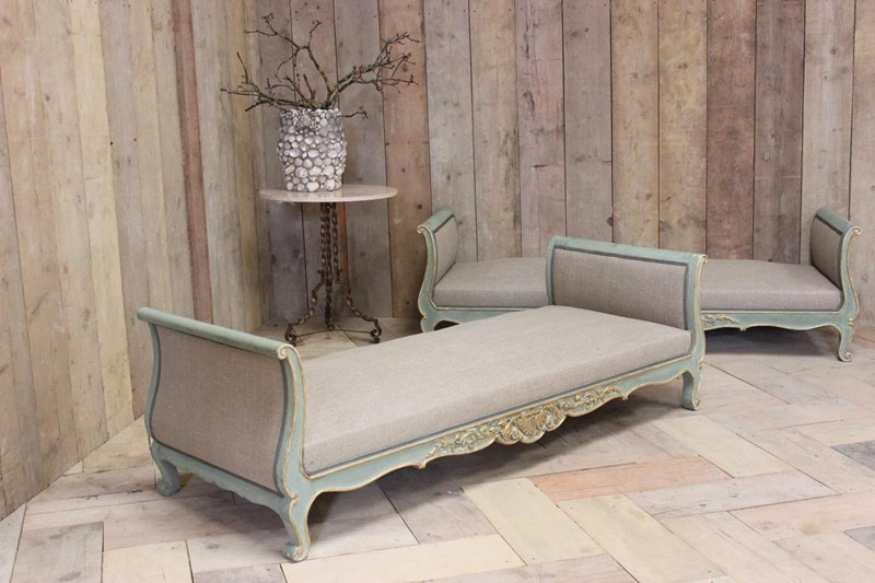 Wonderful Pair of Circa 1900 French Painted Daybed-brownrigg-br-10-1-E3-main-636591413606838593.jpeg