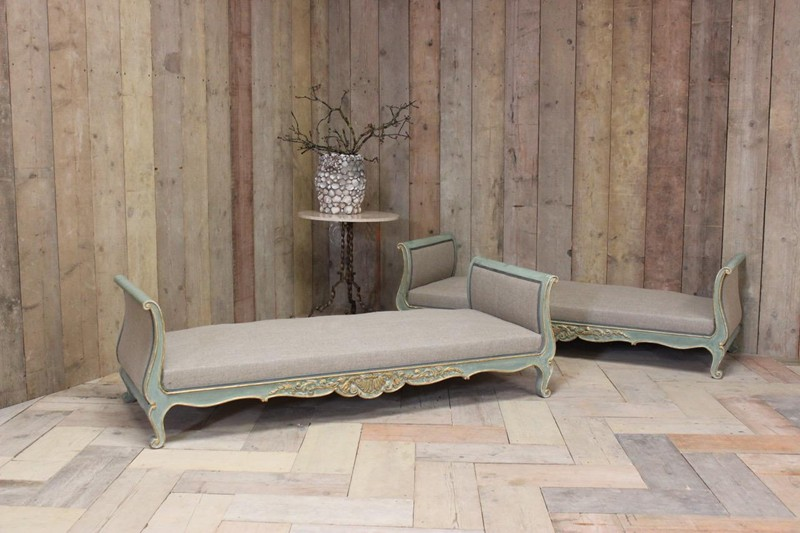 Wonderful Pair of Circa 1900 French Painted Daybed-brownrigg-br-10-1-E4-main-636591413609958753.jpeg