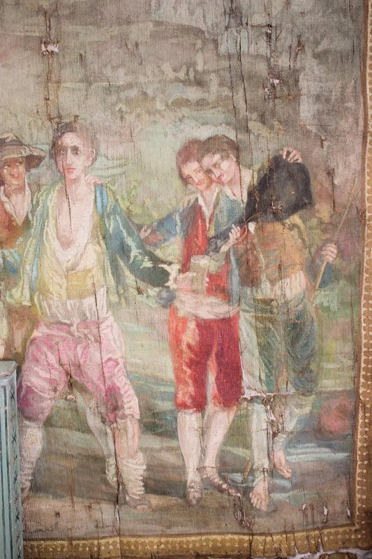 Superb 19th century French Painted Canvas-brownrigg-br9-55-E3-main-636620653726114677.jpeg