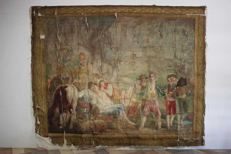 Superb 19th century French Painted Canvas-brownrigg-br9-55-L-main-636620653732666971.jpeg