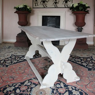 19th Cent Swedish Painted Dining Table