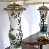 Pair of Rare Samson Vases as Table Lamps