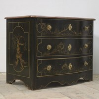 C18th French Bow fronted Commode