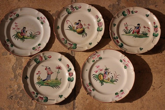 "Set of Five 18th Cent Faience ""au Chinois""-brownrigg-charming-set-of-five-18th-cent-faience-au-chinois-8-1_main_635932088263733877.jpg"