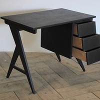 Circa 1950s/60s French Ebonised Desk