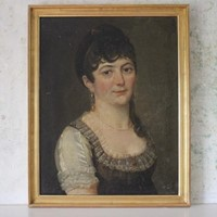 Early 19thC Portrait of a Lady with Pearls