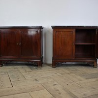 Fine Pair of 19th Cent French Mahogany Cabinets