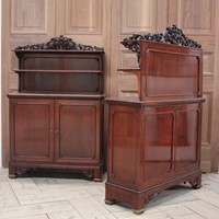 Pair of 19th Century French Mahogany Cabinets