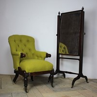 Early 19th Cent English Cheval Mirror