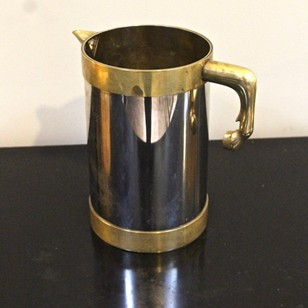 French Bronze and Enamel Jug