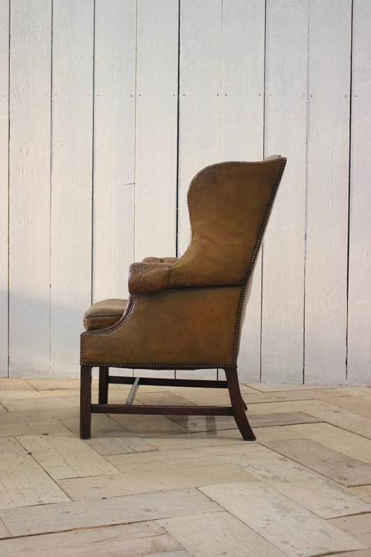 Good 1940s/50s English Wingback Leather Armchair-brownrigg-good-1940s-50s-english-wingback-leather-armchair-540-4-main-637141639193813733.jpeg