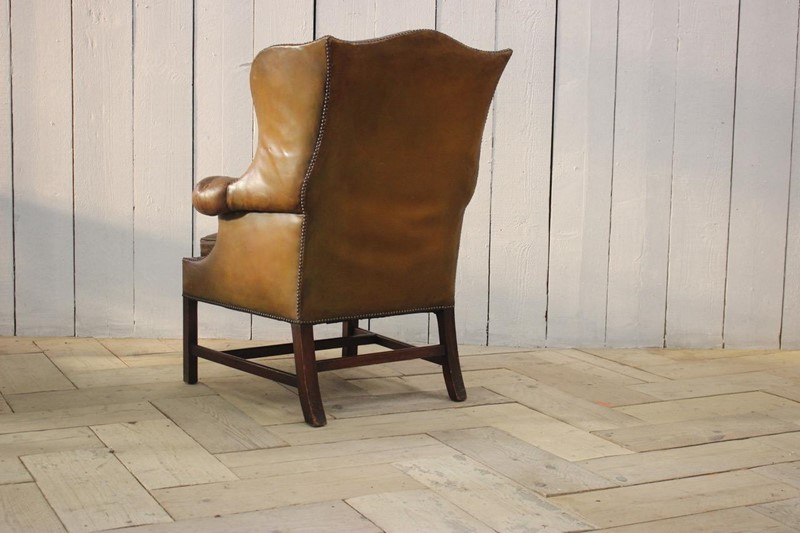 Good 1940s/50s English Wingback Leather Armchair-brownrigg-good-1940s-50s-english-wingback-leather-armchair-540-e1-main-637141639198033325.jpeg