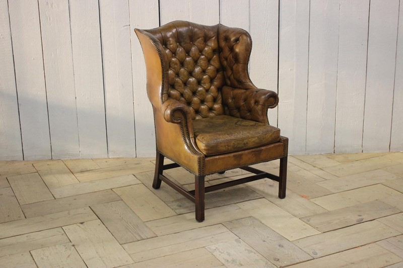 Good 1940s/50s English Wingback Leather Armchair-brownrigg-good-1940s-50s-english-wingback-leather-armchair-540-l-main-637141639202250790.jpeg