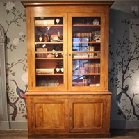 Good Pair of 19th Cent Painted Pine Bookcases