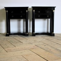 Pair of C19th French Empire Bedside Tables