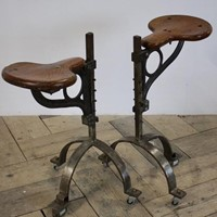 Mid century Adjustable Industrial Bar Stools