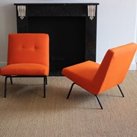 "Joseph-André Motte Pair of ""743"" Easy chairs"