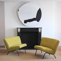 Pair of Circa 1960s easy chairs Joseph André Motte