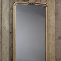 Large 19th century Bleached Oak Mirror