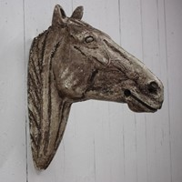 19th Cent French Plaster Horse Head from a Stable