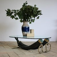 Large Bronze Coffee Table by Italy Valenti (Spain)