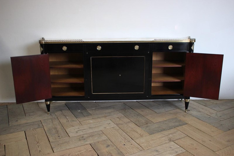 Mid 20th Cent French Ebonised Enfilade / Buffet -brownrigg-large-mid-20th-cent-french-ebonised-enfilade-buffet-3035-E5-main-636774578435907209.jpeg