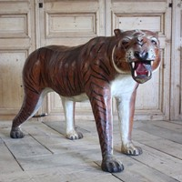 Large Mid 20th Cent leather Tiger
