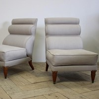 Large Pair of 1960s Italian Side Chairs