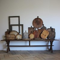 Large Selection of Antique Wooden Bread Boards