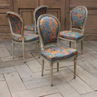 Early 20th Cent French Painted Occasional Chairs