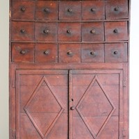 19th Century French Cupboard in original Paint