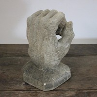 Mid 20th Cent Carved Stone Hand