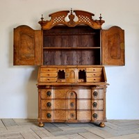 18th Cent Louis XVI Bureau in Elm