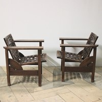 Pair of 1950s Spanish Folding Armchairs