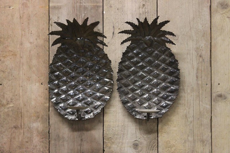 1970s Spanish Pineapple wall Lights in Steel-brownrigg-pair-of-1970s-spanish-pineapple-wall-lights-in-steel-56-2-main-637218526897580561.jpeg